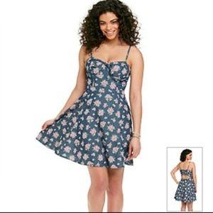Jessica Simpson Ava Bustier Flared Dress